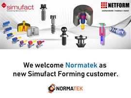 Normatek is now using Simufact Forming